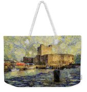 Starry Carrickfergus Castle Weekender Tote Bag
