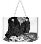 Carroll Shelby    Rest In Peace Weekender Tote Bag by Jack Pumphrey