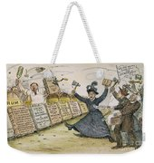 Carry Nation Cartoon, 1901 Weekender Tote Bag