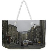 Cars And Buildings On The Streets Of Edinburgh Weekender Tote Bag