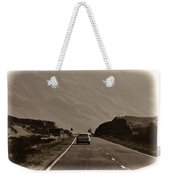 Cars And Other Vehicles On A Road In The Scottish Highlands Weekender Tote Bag