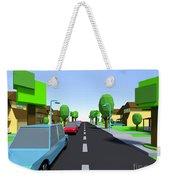 Cars Driving Suburban Streets   Weekender Tote Bag