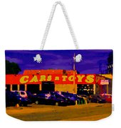 Cars R Toys Evening Rue St.jacques Used Cars Trucks Suvs Montreal Urban Scene Carole Spandau Weekender Tote Bag