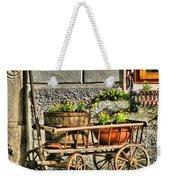 Cart And Flowers In Slovenia Weekender Tote Bag