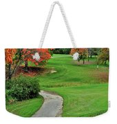 Cart Path Weekender Tote Bag by Frozen in Time Fine Art Photography