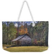 Carter-shields Cabin Weekender Tote Bag by Crystal Nederman