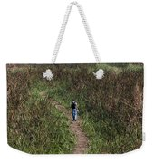 Cartoon - Man Walking Through Tall Grass In The Okhla Bird Sanctuary Weekender Tote Bag