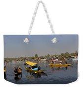 Cartoon - Multiple Number Of Shikaras On The Water Of The Dal Lake In Srinagar Weekender Tote Bag