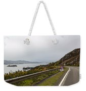Cartoon - Road Along The Loch Alsh In The Scottish Highlands Weekender Tote Bag