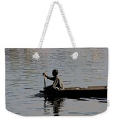 Cartoon - Splashing In The Water Caused Due To Kashmiri Man Rowing A Small Boat Weekender Tote Bag