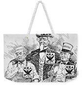 Cartoon Depicting The Impact Of Franklin D Roosevelt  Weekender Tote Bag