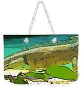 Cartoon Lizard Weekender Tote Bag