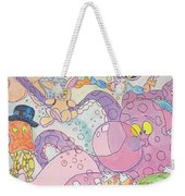 Cartoon Sea Creatures Weekender Tote Bag