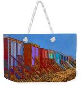 Cartoonised Beach Huts Weekender Tote Bag