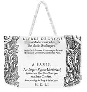 Cartouche, 1551 Weekender Tote Bag