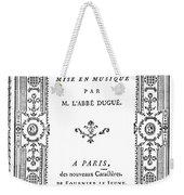 Cartouche, 1765 Weekender Tote Bag