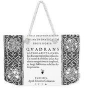 Cartouches, 1534 Weekender Tote Bag
