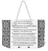 Cartouches, 1544 Weekender Tote Bag