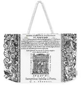 Cartouches, 1588 Weekender Tote Bag