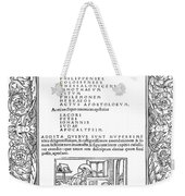 Cartouches, C1530 Weekender Tote Bag