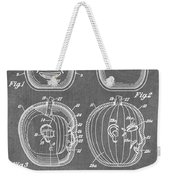 Carved Pumpkin Patent Weekender Tote Bag