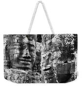 Carved Stone Faces In The Khmer Temple Weekender Tote Bag