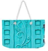 Carved Turquoise Door Weekender Tote Bag