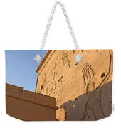 Carved Wall Of The Temple  Philae  Weekender Tote Bag