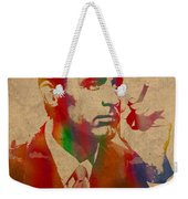 Cary Grant Watercolor Portrait On Worn Parchment Weekender Tote Bag