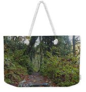 Cascade Forest Path Weekender Tote Bag