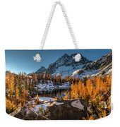 Cascades Ring Of Larches Weekender Tote Bag by Mike Reid