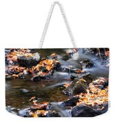 Cascading Autumn Leaves On The Miners River Weekender Tote Bag