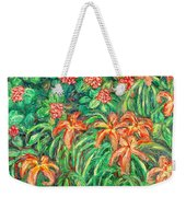 Cascading Day Lilies Weekender Tote Bag