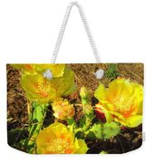 Cascading Prickly Pear Blossoms Weekender Tote Bag