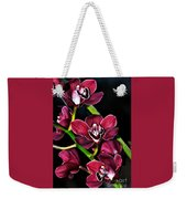 Cascading Red Orchids Weekender Tote Bag