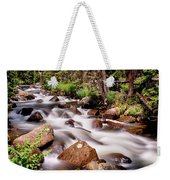 Cascading Rocky Mountain Forest Creek Weekender Tote Bag