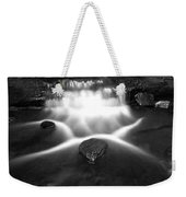Cascading Waterfall Black And White Weekender Tote Bag