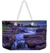 Cascading Waterfalls At Sunset Weekender Tote Bag
