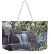 Cascading Waters At The Roosevelt Memorial Weekender Tote Bag