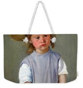 Cassatt's Child In A Straw Hat Weekender Tote Bag