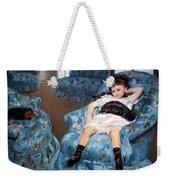 Cassatt's Little Girl In A Blue Armchair Weekender Tote Bag