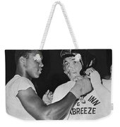 Cassius Clay And Johansson Weekender Tote Bag
