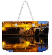 Castel Sant'angelo And The Tiber River Weekender Tote Bag