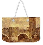 Castel Vecchio And Bridge In Verona Italy Weekender Tote Bag