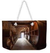 Castelle Di Amorosa Barrel Room Weekender Tote Bag by Scott Campbell