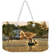 Casting From Boat Weekender Tote Bag