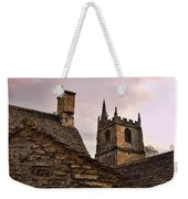 Sunset At Castle Comb Church - Wilshire England Weekender Tote Bag