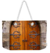Castle Door Weekender Tote Bag by Carlos Caetano