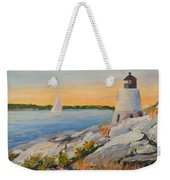 Castle Hill Light House Newport Ri Weekender Tote Bag