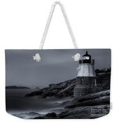 Castle Hill Lighthouse Bw Weekender Tote Bag